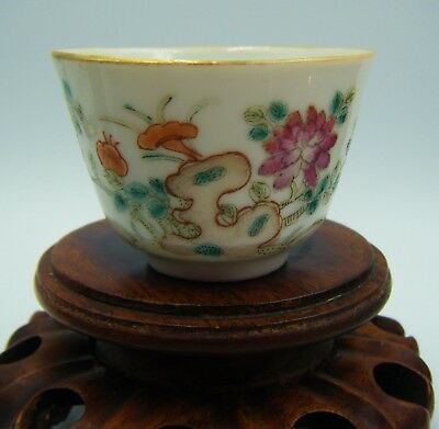 Antique C18th Century / Early C19th Chinese Famille Rose Porcelain Tea Bowl Cup!