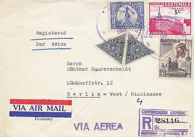 Guatemala: 1902: air mail registered to Berlin
