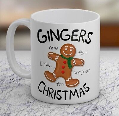 Gingers are for life not christmas Gift Mug Cup funny novelty tea coffee Xmas