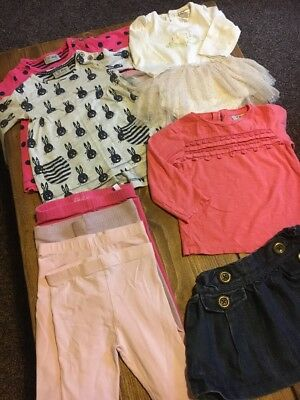 Baby Girl Bundle 6-9 * NEXT * Leggings * Dress * Skirt * Vest * T-shirt X8