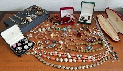 Large Collection Of Antique And Vintage Costume Jewellery