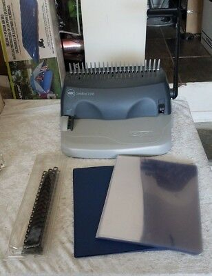 GBC Binder Binding Machine - GBC Combbind C100 w/ LOTS Spines Covers
