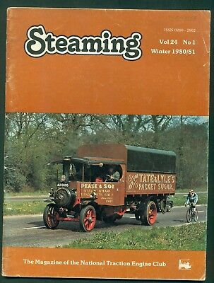 STEAMING- MAGAZINE OF THE NATIONAL TRACTION ENGINE TRUST- 1980/81. VOL 24   No 1