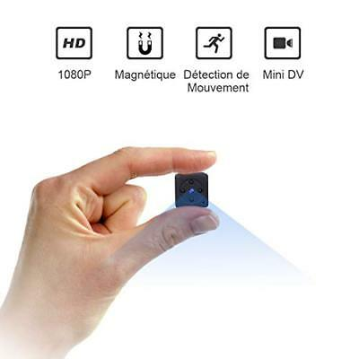 Mini Camera Espion,NIYPS Full HD 1080P Portable sans Fil Nanny Caméra Cach ...
