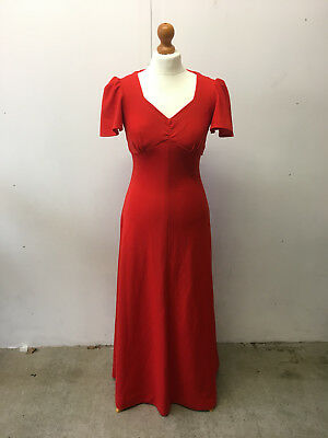 Vintage 60s/70s red evening dress, perfect for halloween/christmas parties!