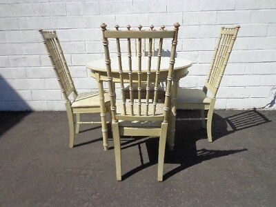 Bamboo Dining Set Chairs Table Kitchen Seating Thomasville Allegro Chippendale