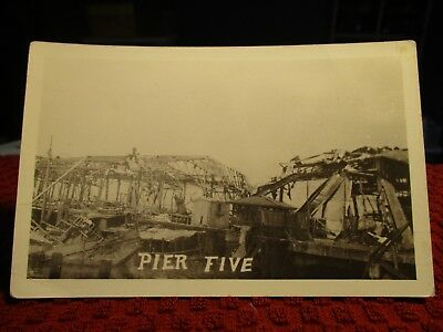 Rppc Early 1900's. View Of Pier Five Disaster. Postcard.