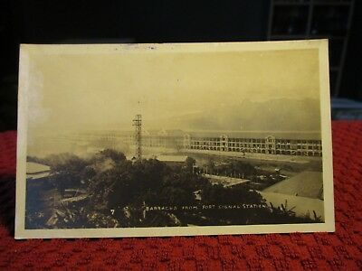 Rppc Early 1900's. Barracks From Fort Signal Station. Postcard.
