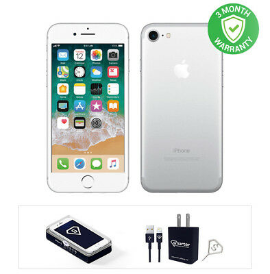 Apple iPhone 7 - 32GB - Silver - Fully Unlocked - Good Condition