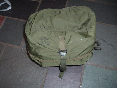 Original US Army 1973 dated nylon Medic bag pouch M-3 loaded with correct items