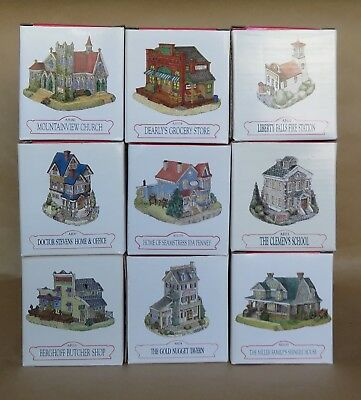 Liberty Falls ~ Lot of 9 Buildings & 3 Accessories  NEW, MINT IN BOXES  24 pcs