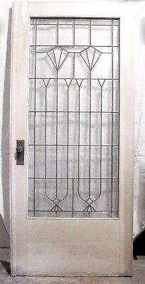 Vintage Beveled Glass French Doors set of 2