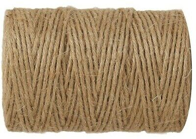 1m-1000m 3 Ply Natural Brown Soft Jute Twine Sisal String Rustic Shabby Cord