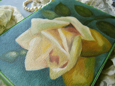 Yellow Cabbage Rose Oil Painting Roses Painting