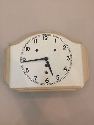 Vintage Art Deco Ceramic Wall Clock, No Reserve