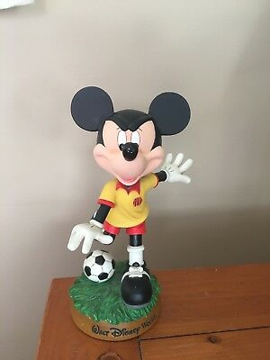 Vintage Mickey Mouse Bobblehead Soccer Walt Disney World 9 Inch Tall