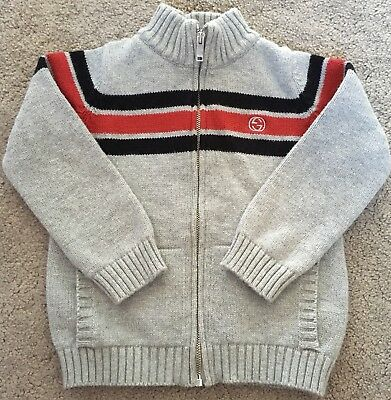 Gucci Grey Long Sleeve Zip Up Top Size 12-18 Months Old RRP £195