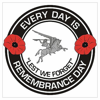 Airborne Division Para Parachute reg Remembrance day Regimental specific Sticker