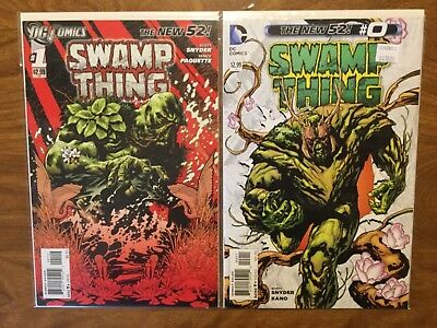 DC New 52 2011 Swamp Thing 0-37 Not Complete Blank Variant Snyder Lenticular