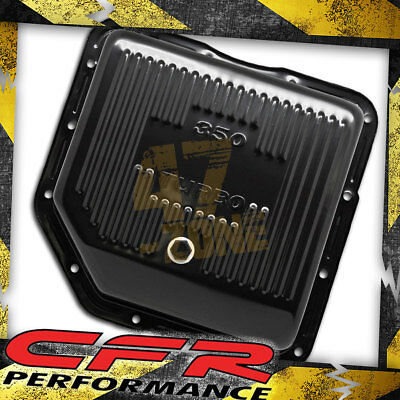 gm chevy th350 deep pan filter spacer extension kit turbo 350 Chevy TH350 Fluid Capacity chevy gm turbo th 350 steel transmission pan deep sump black