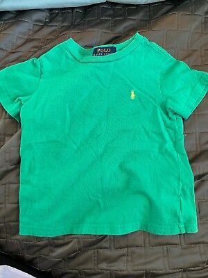 Polo Ralph Lauren Boys Solid Cotton Crewneck Tee T-shirt - Size 3T