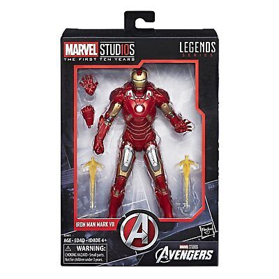 Iron Man Mark VII Actionfigur Marvel Legends Cinematic Universe 10th Anniversary