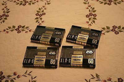 4 NEW MAXELL XLII-S 60 CASSETTES! SEALED! BLANK! HI OUTPUT! CrO2! MADE IN JAPAN