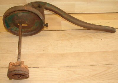 Vintage Sanders Manual Cast Iron Hand Crank Old Water Well Pump Parts + Handle