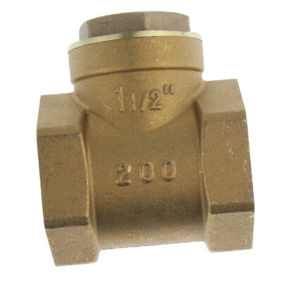 DN50 One Way Swing Check Valve, Female Thread, Brass Material, 2 Inch
