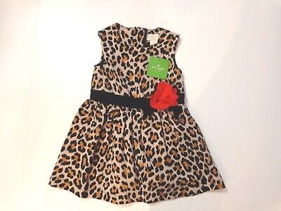 NWT $88 Kate Spade Toddlers Classic Leopard Dress, size 92 - 2 years,fully lined