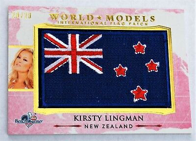 KIRSTY LINGMAN  WORLD MODELS FLAG CARD #20/20 BENCHWARMER AMERICA the BEAUTIFUL