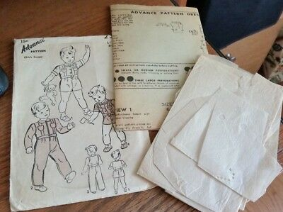 Vintage Advance Pattern 2369 Child's Romper 15 Cents-Size 1/2