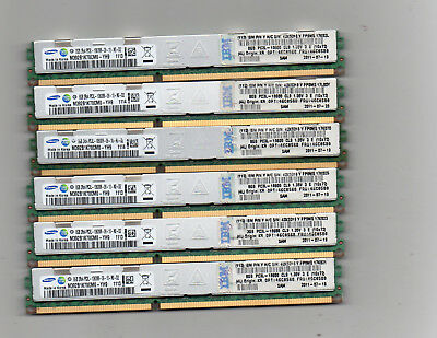 Lot of 6 8GB  DDR3 PC3L-10600R 1333Mhz ECC REG Server Computer Memory