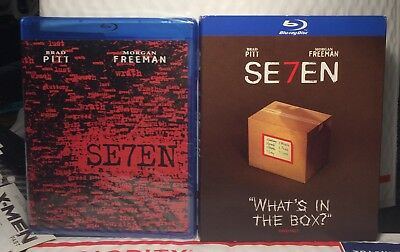 New Seven On Blu-Ray! With Rare Walmart Slipcover! Factory Sealed In Srhink Wrap