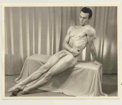 """Western Photography Guild, Male physique photograph, 4x5"""", 3 of 11, gay interest"""