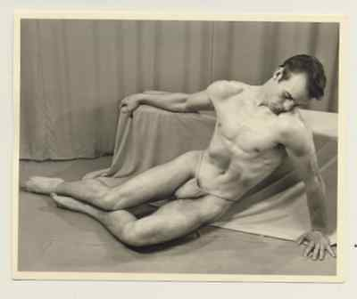 """Western Photography Guild, male physique photograph, 4x5"""", 5 of 11, gay interest"""