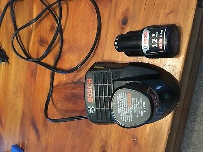 bosch bc330 charger and two batteries