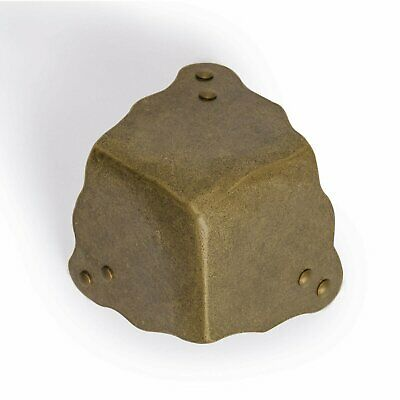 CBH 2 ROUNDED THREE SIDE Brass Box Corners 2""