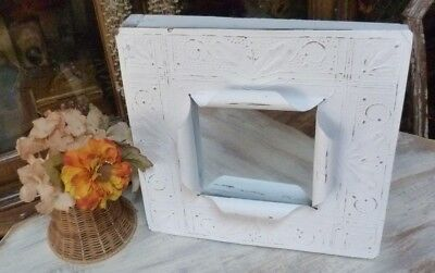 OOAK Shabby Yet Chic Salvaged TIN CEILING TILE Mirror