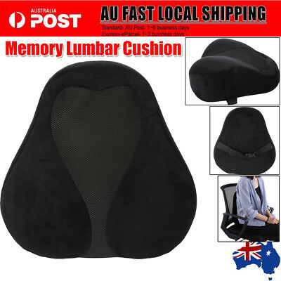 Car Office Seat Chair Memory Foam Lumbar Back Support Cushion Pillow Pain Relief