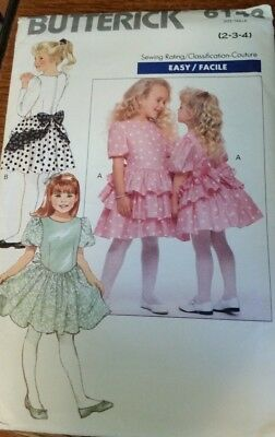 Butterick Pattern 6143 #(2-3-4) Girls Dress -Uncut