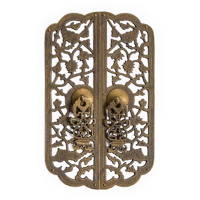 "CBH Chinese ROSE VINE Brass Hardware Door Pull 9.7""x5.5"""