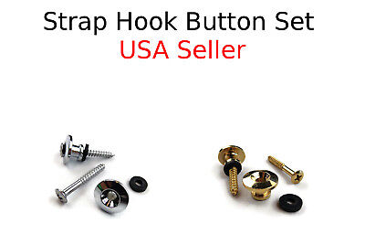 Two End Pin Acoustic Electric Guitar Strap Buttons With Screws And Pads