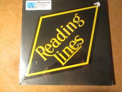 Railroad Sign Reading Lines New by Micro Scale