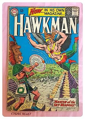 HAWKMAN DC Comics #1. First Solo issue. Master of Sky-Weapons May 1964. Grade VG