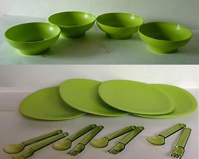TUPPERWARE Blossom Microwaveable Bowls, Plates & Cutlery Set *New