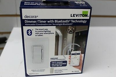 NEW Leviton Decora Digital Timer Switch - R00-DDS15-BDM  with Bluetooth Tech.