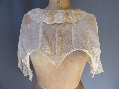 Antique Victorian Embroidered Lace Collar