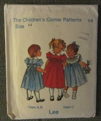 Vintage The Children's Corner Patterns No. 10 Lee Design  Size 1-2