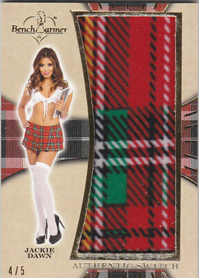 2018 Benchwarmer Hot For Teacher Jackie Dawn Authentic Swatch Card /5